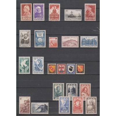 France - Année complète 1946 neuve ** - Cote €26.30