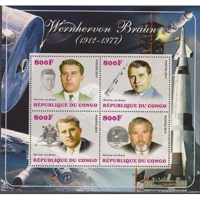 Congo - Wernher von Braun - Feuillet neuf **