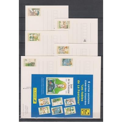 France - Collection d'entiers postaux neufs ** sous la faciale (2 photos)