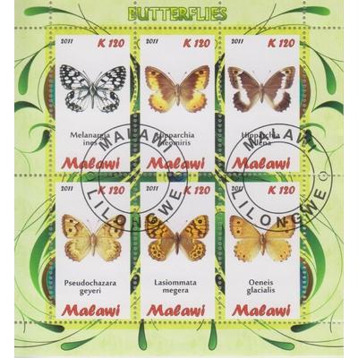 Malawi - Papillons - Feuillet de 2011