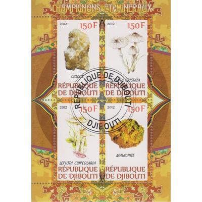 Djibouti - Champignons et minéraux - Feuillet de 2012