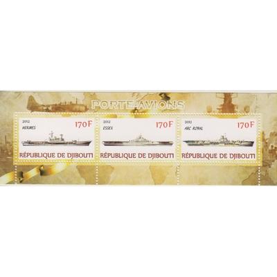 Djibouti - Porte-avions - Feuillet de 2012