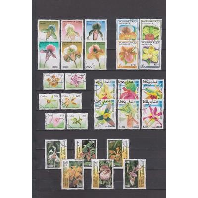 Orchidées - Collection de séries complètes sur les orchidées (2 photos) - Cote +€30