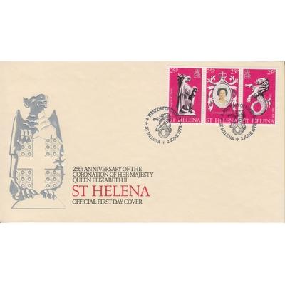 Saint Helène - Elizabeth II sur FDC - Cote €4