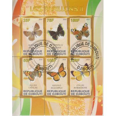 Djibouti - Papillons - Feuillet de 2010