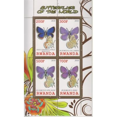 Rwanda - Papillons - Feuillet neuf **