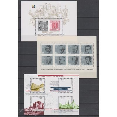 Allemagne - Collection géante de blocs feuillets neufs ** (7 photos) - Cote €139