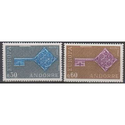 Andorre - Europa - yt.188/89 neufs ** de 1968 - Cote €35
