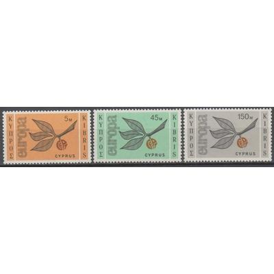 Chypre - Europa de 1965 - yt.250/52 neufs ** - Cote €50