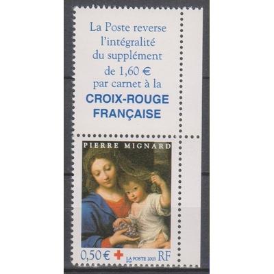 France - Croix rouge - yt.3620 neuf ** avec vignette - Cote €2