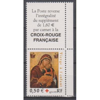 France - Croix rouge - yt.3717 neuf ** avec vignette - Cote €2