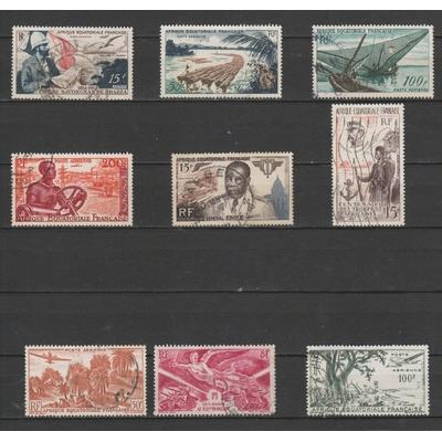 AEF - Sélection de timbres oblitérés - Cote €14