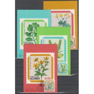 Açores - Flore - 4 cartes maximums de 1981