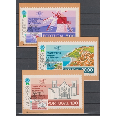 Açores - Tourisme - 6 cartes maximums de 1980 (2 scans)