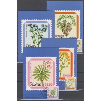 Açores - Flore - 4 cartes maximums de 1982
