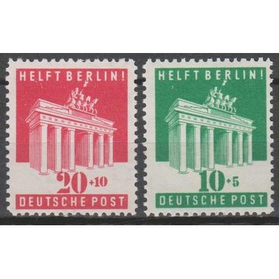 Allemagne - Bizone Aide à Berlin - Yvert 69-70 neufs ** - Cote €15