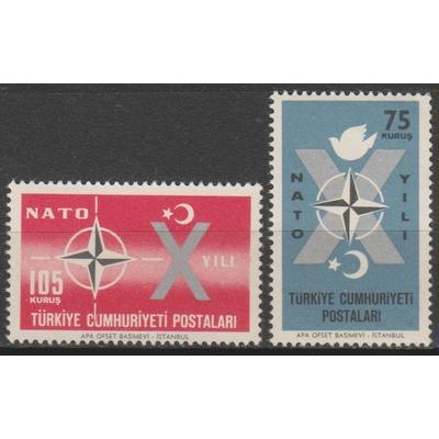 Turquie - Otan - yt.1614/15 neufs ** de 1962 - Cote €1.50