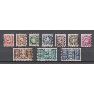 Monaco - Sélection de timbres taxe neufs ** - Cote €4