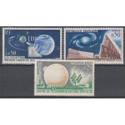 France - Espace - yt.1360/62 neufs ** de 1962 - Cote €1.60