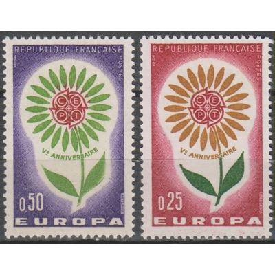 France - Europa - yt.1430/31 neufs ** de 1964 - Cote €1
