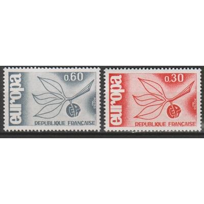 France - Europa - yt.1455/56 neufs * de 1965 - Cote €2