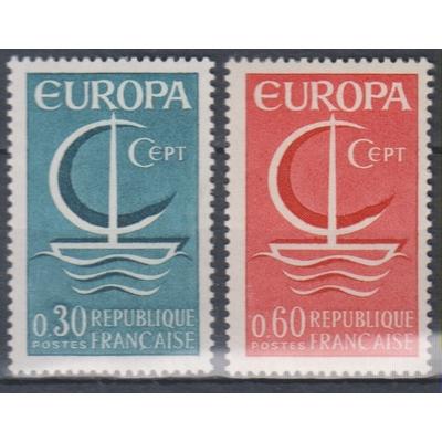 France - Europa - yt.1490/91 neufs ** de 1966 - Cote €1.50