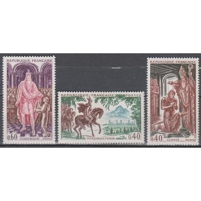 France - Histoire - yt.1495/97 neufs ** de 1966 - Cote €1.65