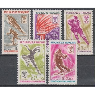 France - Jeux olympiques - yt.1543/47 neufs ** de 1968 - Cote €3
