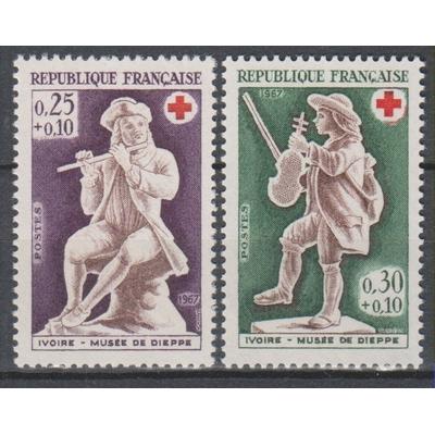 France - Croix Rouge - yt.1540/41 neufs ** de 1967 - Cote €1.30
