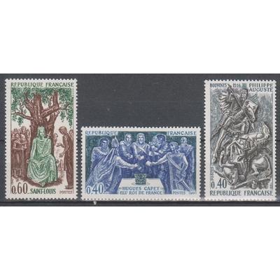 France - Histoire - yt.1537/39 neufs ** de 1967 - Cote €1.65