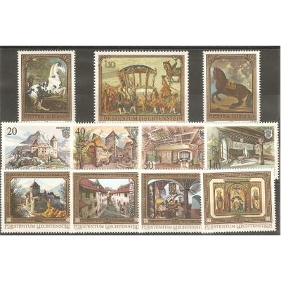 Liechtenstein - Collection de timbres neufs ** et oblitérés (3 photos) - Cote €29