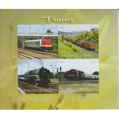 Djibouti - Trains du monde - Feuillet neuf ** de 2011