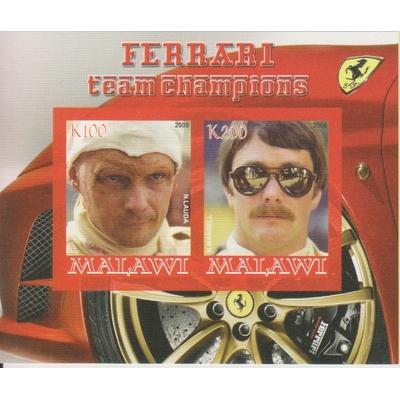 Malawi - Ferrari - Feuillet neuf ** de 2008