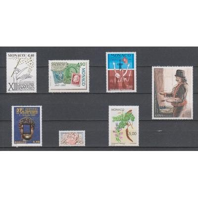 Monaco - Sélection de timbres neufs ** vendus à la faciale