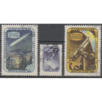 Russie - Espace - yt.1940/42 de 1957 - Cote €1.80
