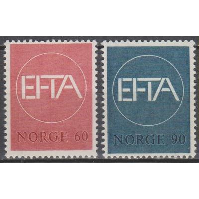 Norvège - Efta - yt.505/06 neufs ** de 1962 - Cote €3.75