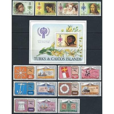 Turks et Caiques - Grosse collection neuve ** (5 photos) - Cote €70