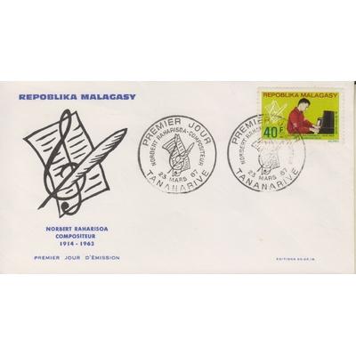 Madagascar - Compositeur - Enveloppe 1er-jour de 1967