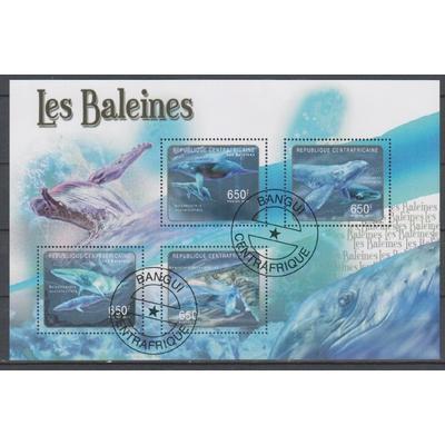 Centrafricaine - Baleines - Feuillet de 2011