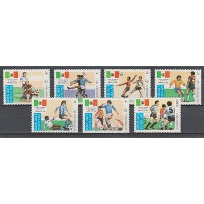 Laos - Football - yt.617/23 neufs ** de 1985 - Cote €8.50