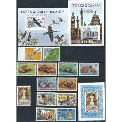 Turks et Caiques - Collection neuve ** (2 photos) - Cote €42
