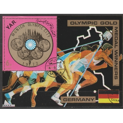 Yemen - Jeux olympiques - Feuillet de 1970