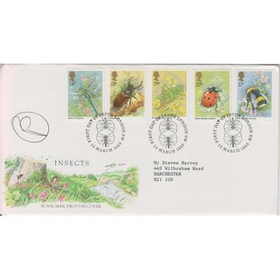 Grande Bretagne - Les insectes - FDC + notice - Cote €8
