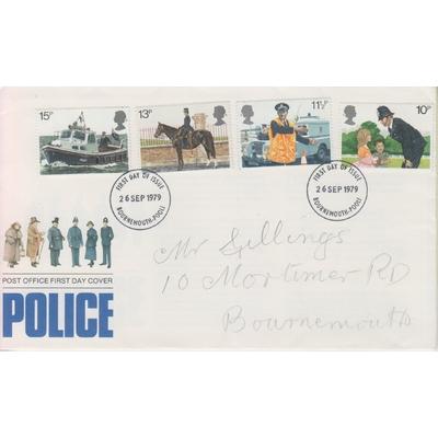 Grande Bretagne - La police - FDC + notice - Cote €4.50