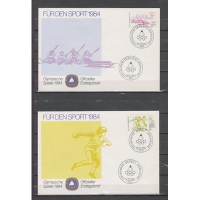 Allemagne - Collection d'enveloppe FDC J.O. de 1984 (2 photos) - Cote €15