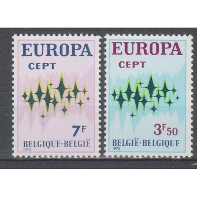 Belgique - Europa - yt.1623/24 neufs ** de 1972 - Cote €1.70