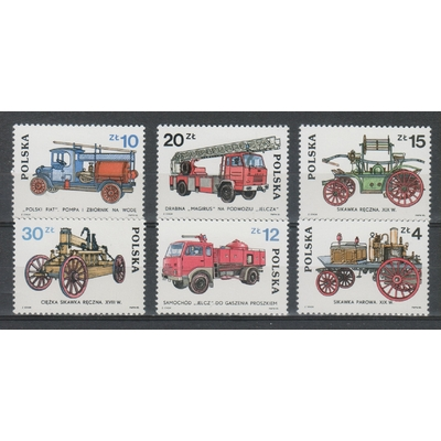 Pologne - Sapeurs Pompiers de 1985 neufs ** - Cote €5