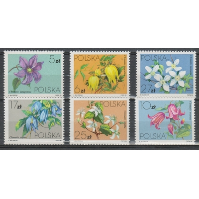Pologne - Fleurs de 1984 neufs ** - Cote €5.50