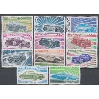 Monaco - Automobiles - yt.1018/28 neufs ** de 1975 - Cote €46