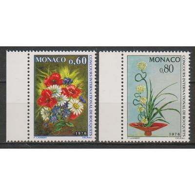 Monaco - Fleurs - yt.1035/36 neufs ** de 1975 - Cote €3.20